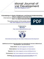 Friendships in Early Childhood, And Social Understanding