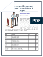 Norvell Fixture and Equipment Group - Crowd Control Posts & Ropes