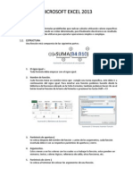 Funciones - Microsoft Excel 2013
