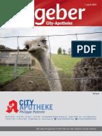 Ratgeber aus Ihrer City-Apotheke – April 2015