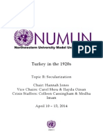 Turkey in the 1920s Topic B Secularization