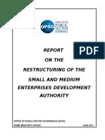 Final Report Restructuring SMEDA June 13