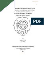 Skripsi Matematika Tutor Sebaya