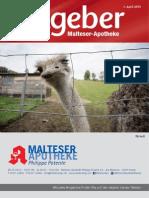 Ratgeber aus Ihrer Malteser-Apotheke – April 2015