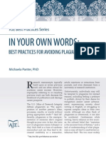 Best Practices for Avoiding Plagiarism