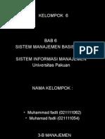 Bab 6 Sistem Manajemen Basis Data