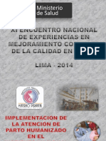 INMPN humanizacion del parto 2014