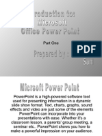 Introduction to Microsoft Office Power Point