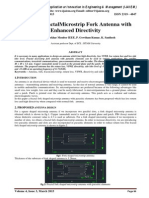 Study on FractalMicrostrip Fork Antenna with Enhanced Directivity