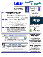 Emergency Water Storage Guidelines