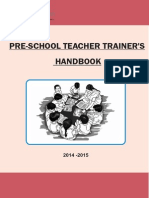Pre - school Teacher Trainer Handbook