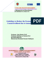 Guidelines to Reduce the Economic Risk of Coastal Livelihoods Due to Tsunami and Cyclone