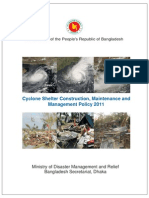 Policy - Cyclone Shelter Construction, Maintenance and Management Policy 2011(English)