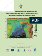 Report - Active Fault Mapping- Paleo-seismological Study of the Dauki Fault and the Indian-Burman Plate Boundary Fault - 2013