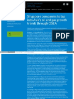 Osea Asia Com Singapore Companies to Tap Into Asias Oil And