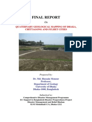 Final Report: Quaternary Geological Mapping Of Dhaka