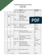 Potch Girls High's 2nd Term Planner 2015