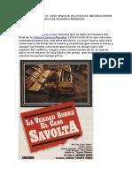 La Verdad Sobre El Caso Savolta Película de Antonio Drove Basada en La Novela de Eduardo Mendoza