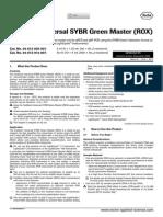 Faststart Universal SYBR Green Master (ROX)