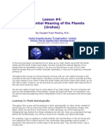 Lesson on Astrology - Planets