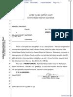 Magraff v. Solano County Superior Court of California et al - Document No. 3