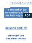 believing in god end of unit revision