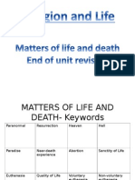 matters of life and death revision booklet