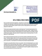 Metal Forming Press Stamping