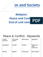 peace and conflict revision activity