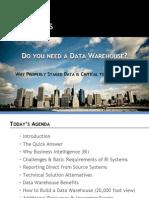 Do You Really Need a Data Warehouse Senturus Webinar