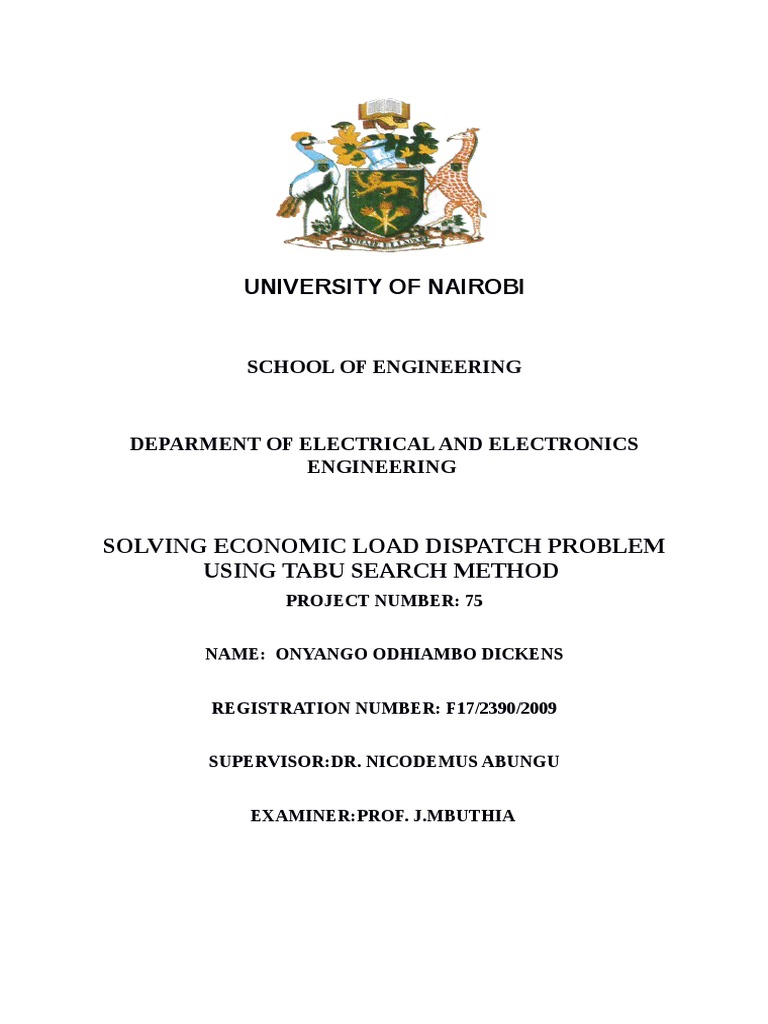 Phd thesis economic load dispatch