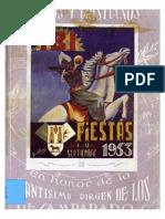1953 - Libro Oficial de Fiestas de Moros y Cristianos de Ibi