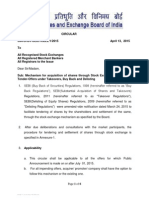 Mechanism for acquisition of shares through Stock Exchange pursuant to Tender-Offers under Takeovers, Buy Back and Delisting