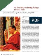 Teach_refuge_1 article by Sakya Trizin