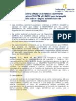 Comunicado de Prensa SIC - Medidas cautelares cargos asime´tricos TELEFONICA - COMCEL