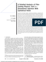 A Detailed Analysis of Film Cooling Physics Part I - Streamwise Injection With Cylindrical Holes