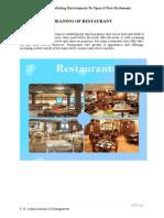 Marketing Management of Restaurant