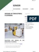 Design of Industrial Flooring