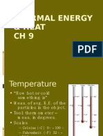 CH 9 Heat & Thermal Energy