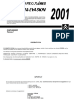 Xantia Xm Evasion 2001 Manual de Bolsillo