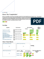 Big O Algorithm Complexity Cheat Sheet