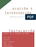 Instalación e intervención