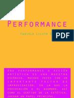 Performance (Presentación