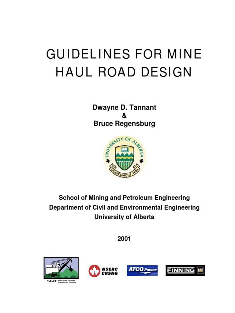 Ptm Guidelines For Mine Haul Roads Design Road Road Surface