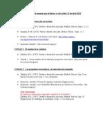 Aviso-Lecturas Para El Examen Que Se Llevara a Cabo El Dia 15 de Abril 2015