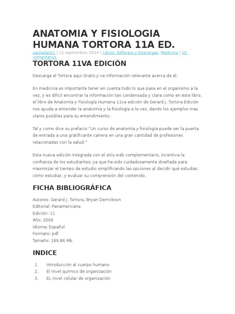 Asombroso Fundamentos De La Anatomía Y La Fisiología 10ª Edición Pdf ...