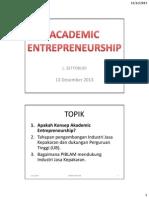 MATERI 6 Academic Entrepreneurship