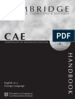 Cambridge - CAE English as a 2nd Language Handbook