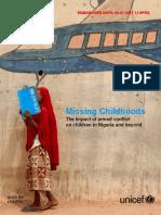 Child Alert Missing Childhoods Embargo 00 01 Gmt 13 April