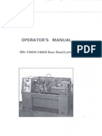 Enco GH-1340 Lathe User Manual 319-9733-O